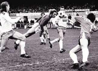 Gammelt fodboldbillede Vejle Stadion